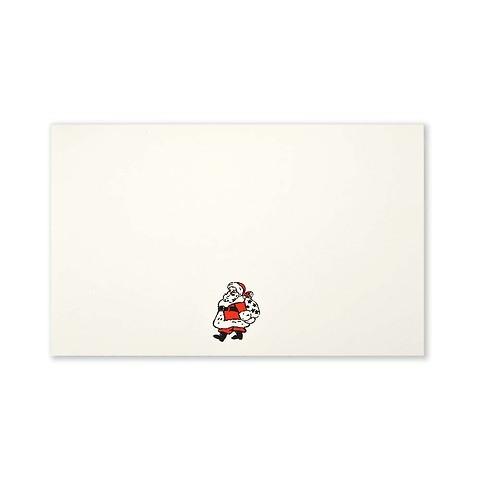 Weihnachtskarte Little Santa Mini smooth ivory