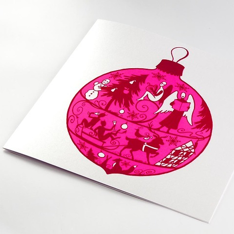 Weihnachtskarte Fairy Light quadratisch 21x21 Perlmutt