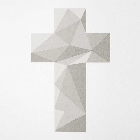 Grußkarte Kreuz Polygon quadratisch