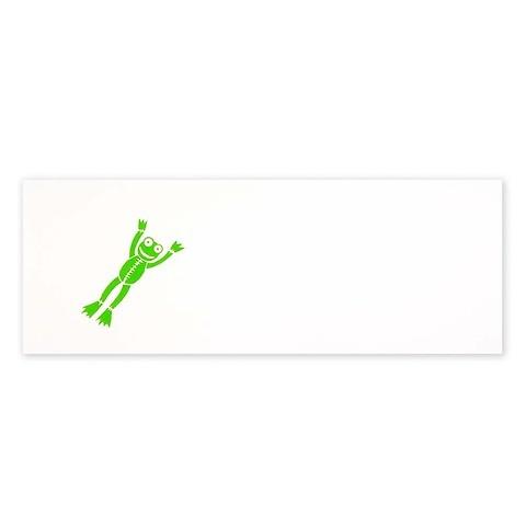 Grußkarte Frosch Baby DIN lang
