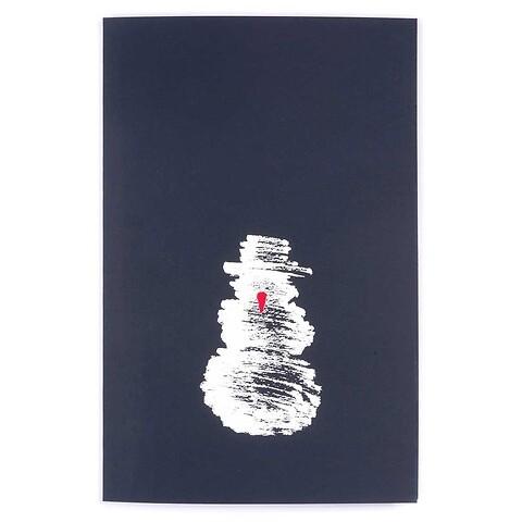 Weihnachtskarte Schneemann Diplomat Pure nachtblau