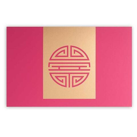 Grußkarte Shou Langes Leben Pure pink  Diplomat
