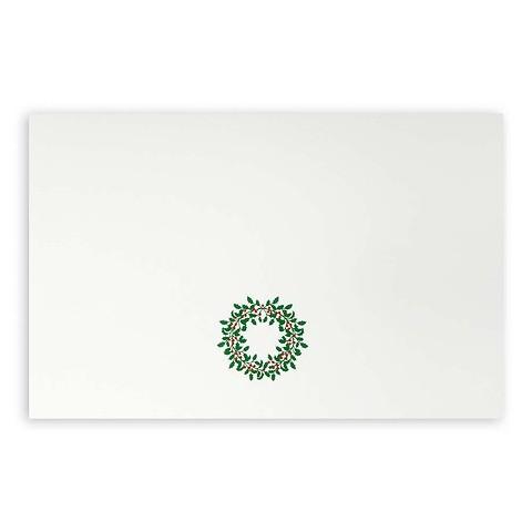 Weihnachtskarte Ilexkranz Diplomat smooth white