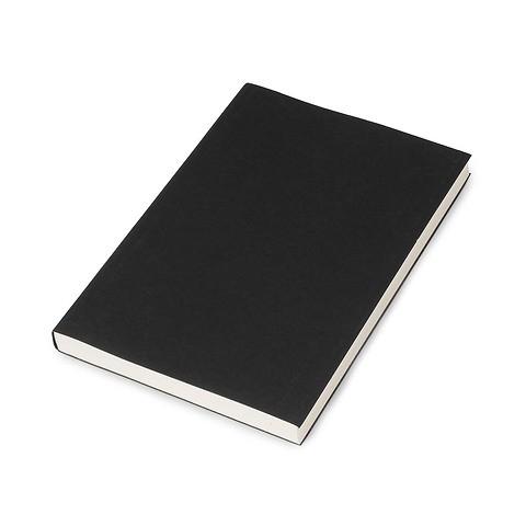 Refill Notizbuch A5 blanko 144 Blatt ivory, black cover