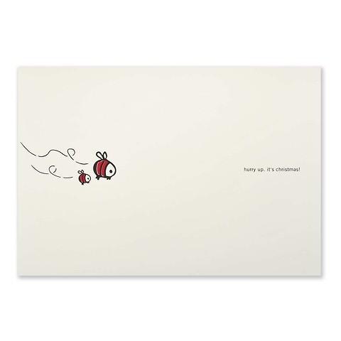 Weihnachtskarte hurry up. it's christmas! Diplomat