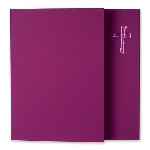 Grußkarte Kreuz gezeichnet Pure brombeer quadratisch