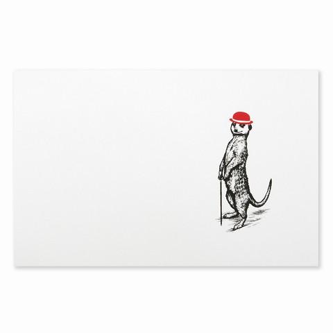 Weihnachtskarte Erdmännchen Diplomat