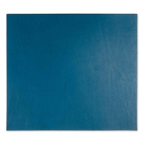 Mousepad Leder 28x25 cm blau