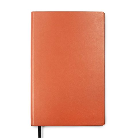 Treuleben Notizbuch Journal M Leder blanco orange/mandarino