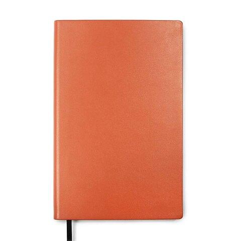 Treuleben Notizbuch Journal M Leder blanco orange/mandarino