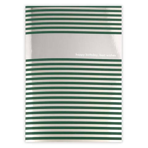Grußkarte Geburtstag Stripes silber  happy birthday  Diplo