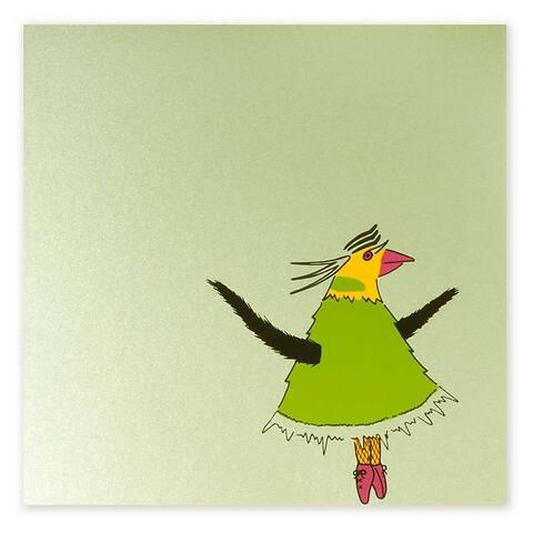 Grußkarte Chantalle Perlmutt grün quadratisch