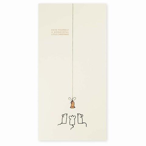 Weihnachtskarte Weihnachts-Mäuse DIN lang