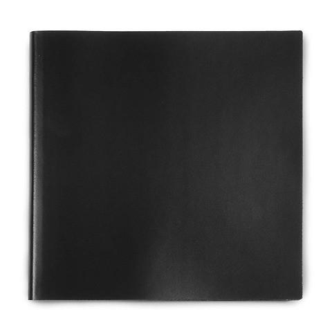 Gästebuch Leder 21x21cm 110 Blatt; schwarz