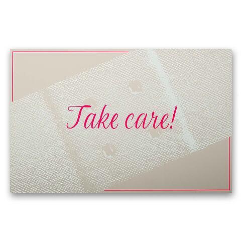 Grußkarte Take Care Diplomat Pure sand