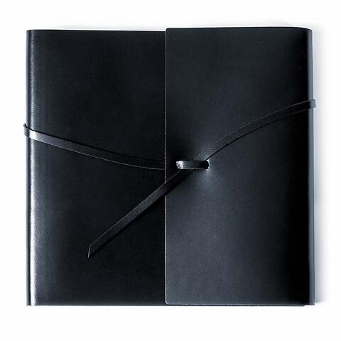 Gästebuch Leder mit Band 21x21 cm 96 Blatt