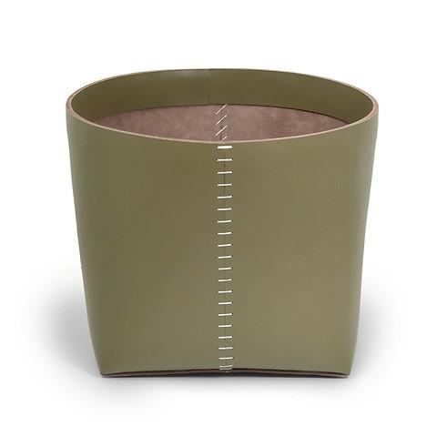 Papierkorb Leder 38x31cm