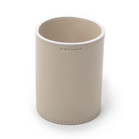 Stiftebecher Leder 9x9,5 cm