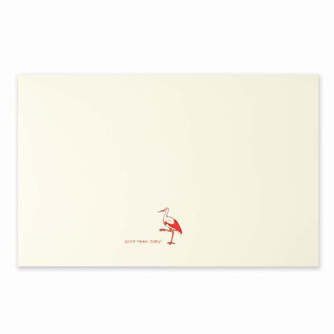 Grußkarte Storch Good News Diplomat