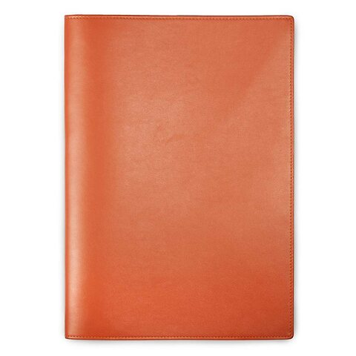 Treuleben Dokumentenmappe A4 Leder orange/mandarino
